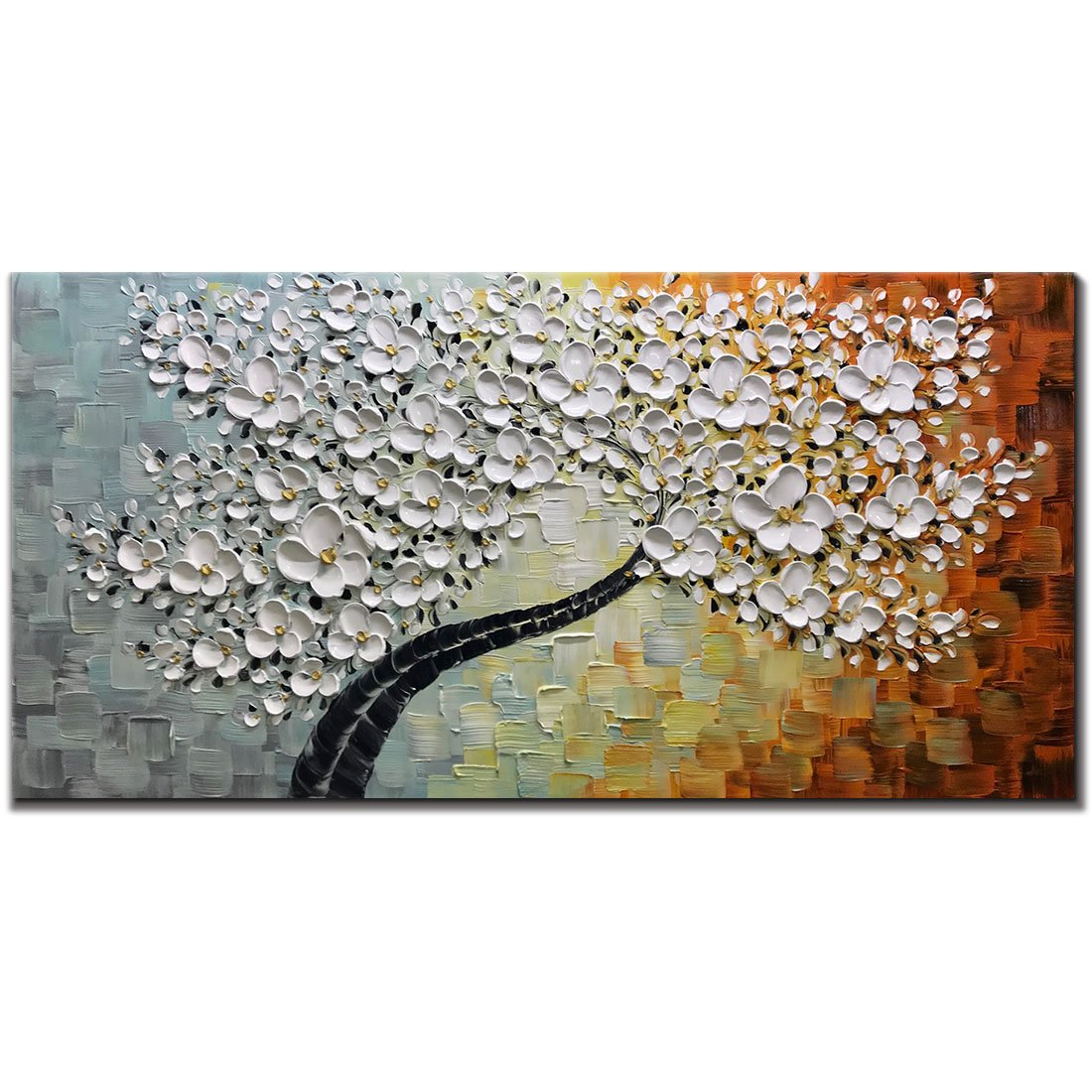 V-inspire Abstract Paintings, 20x40 Inch Paintings Oil Hand Painting 3D Hand-Painted On Canvas Abstract Artwork Art Wood Inside Framed Hanging Wall Decoration Abstract Painting