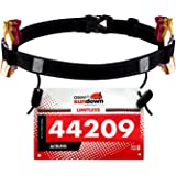 Maacool Running Number Belt for Running,Cycling,Marathon,Triathlon Race,with 6 Gel Loops to Attach Energy Gel