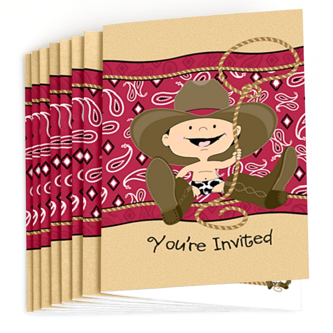 Amazon.com: Little Cowboy - Western Fill In Baby Shower or Birthday ...