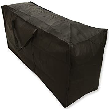 Woodside Water Resistant Outdoor Garden Furniture Cushion Storage Bag Case  Black Heavy Duty Part 39