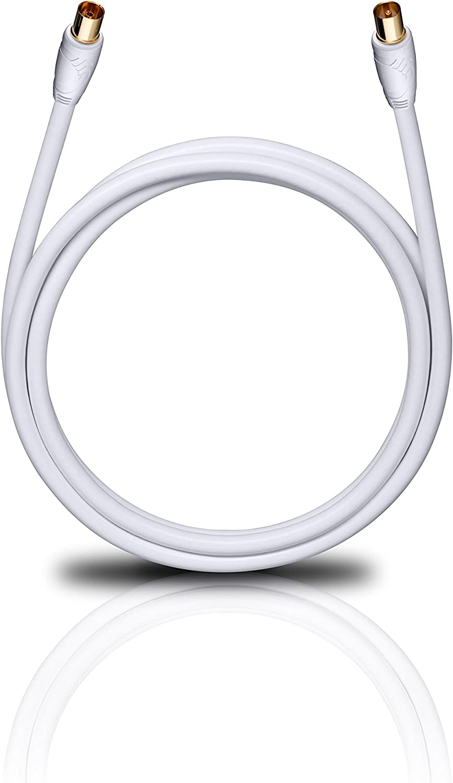 OEHLBACH 163 - Cable de Antena (2 Metros), Color Blanco