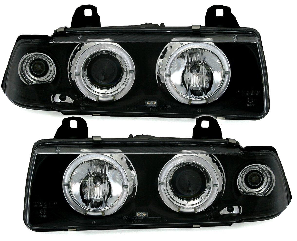 AD Tuning GmbH & Co. KG 930034 Kit de phares Angel Eyes, Noir/verre transparent