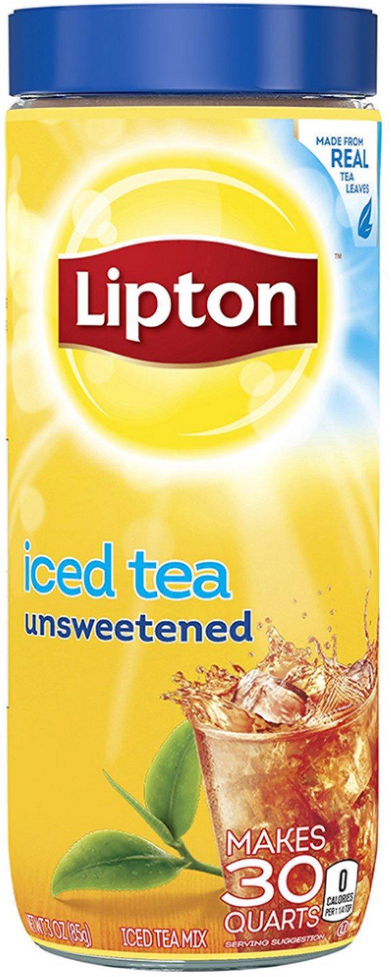 Lipton Black Iced Tea Mix Unsweetened 30 qt (Pack of 4)
