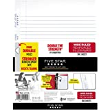 "Five Star Loose Leaf Paper, 3 Hole Punched, Reinforced Filler Paper, Wide Ruled, 10-1/2"" x 8"", 100 Sheets/Pack (15000)"