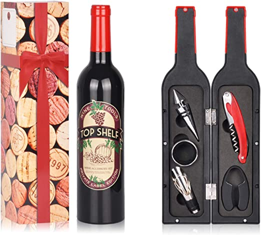 Wine Corkscrew and Aerator Wine Accessories Gift Set Essential for Wine Lovers