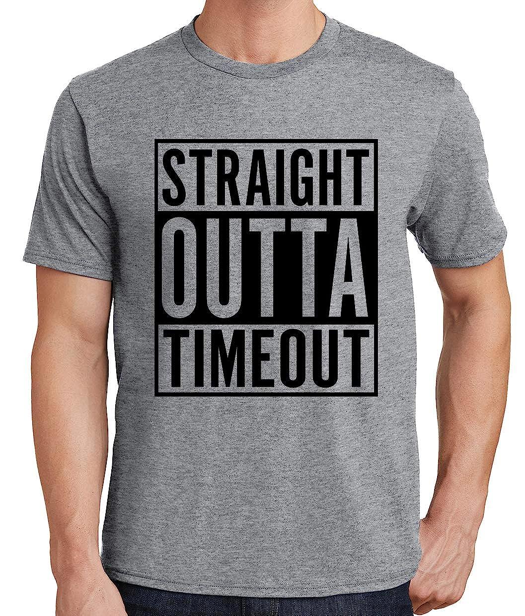 Tenacitee Mens Straight Outta Timeout T-Shirt