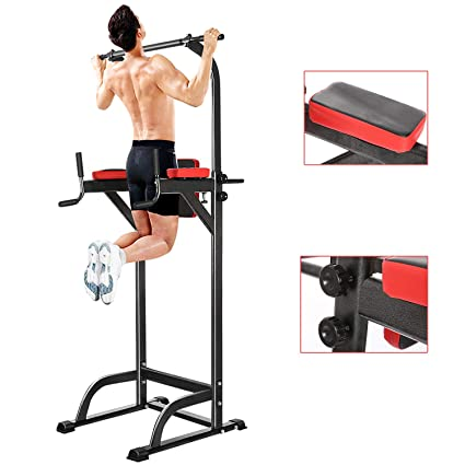 Fitness-Kleingeräte & -Zubehör New Multi Function Pull Up Dip Station for Indoor Home Gym Strength Training Expander & Widerstandsbänder
