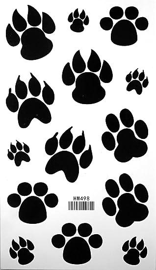 Dog Paw Footprint Tattoo Stickers Temporary Tattoos Fake Tattoos 3pcslot 178cm X 10cm