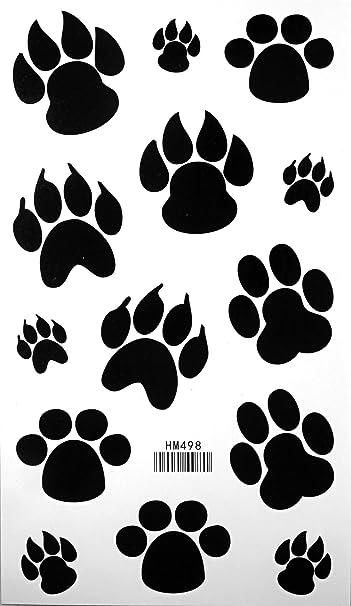 e0d4447e9 Amazon.com: Dog Paw Footprint Tattoo Stickers Temporary Tattoos Fake ...