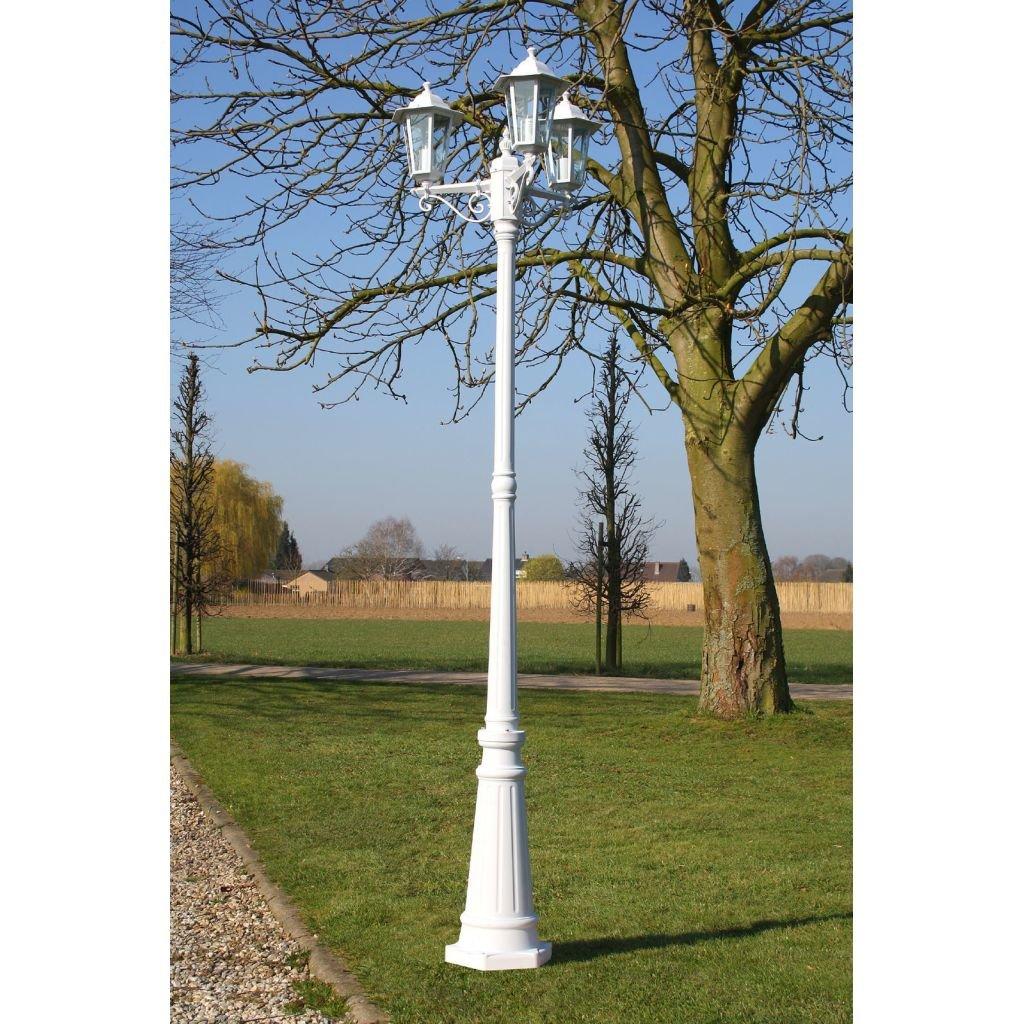 Lanterna da giardino 215 cm Romantico 60 Watt bianco per giardino, cortile, sentiero, terrazza