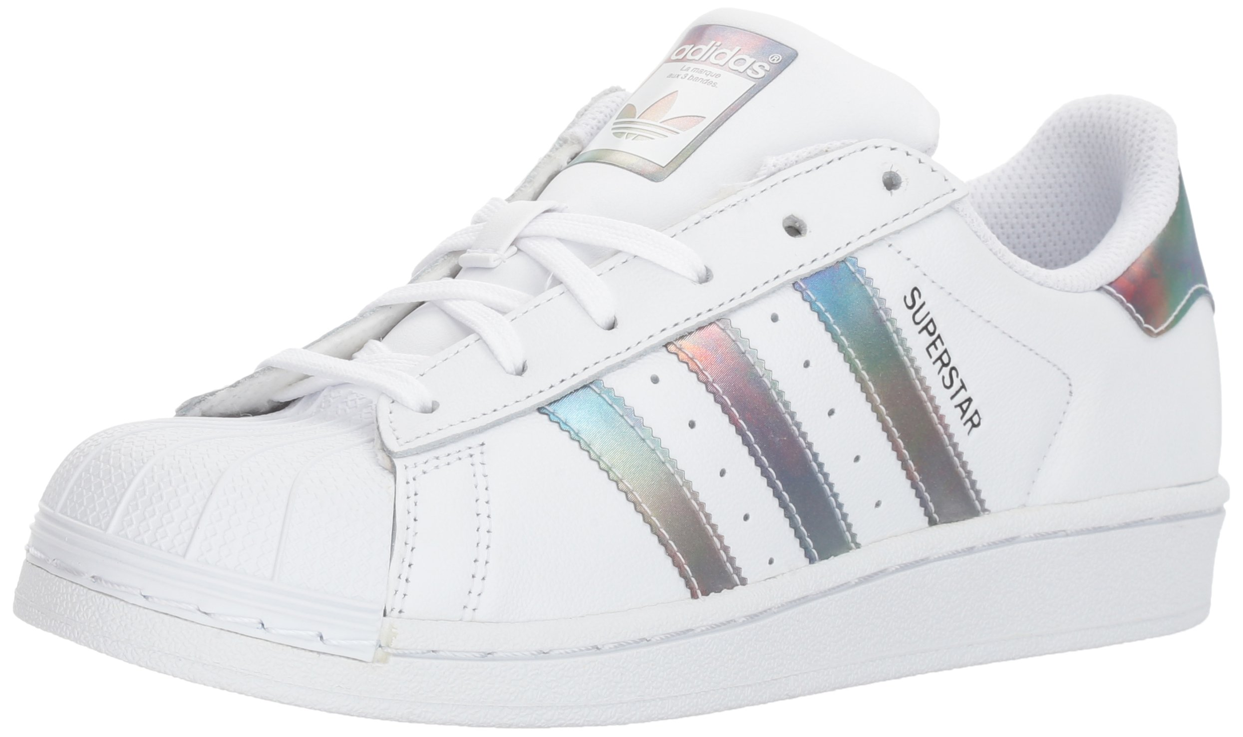 adidas Originals Unisex-Kids Superstar J Sneaker, White/White/Gold Metallic, 4 M US Big Kid by adidas