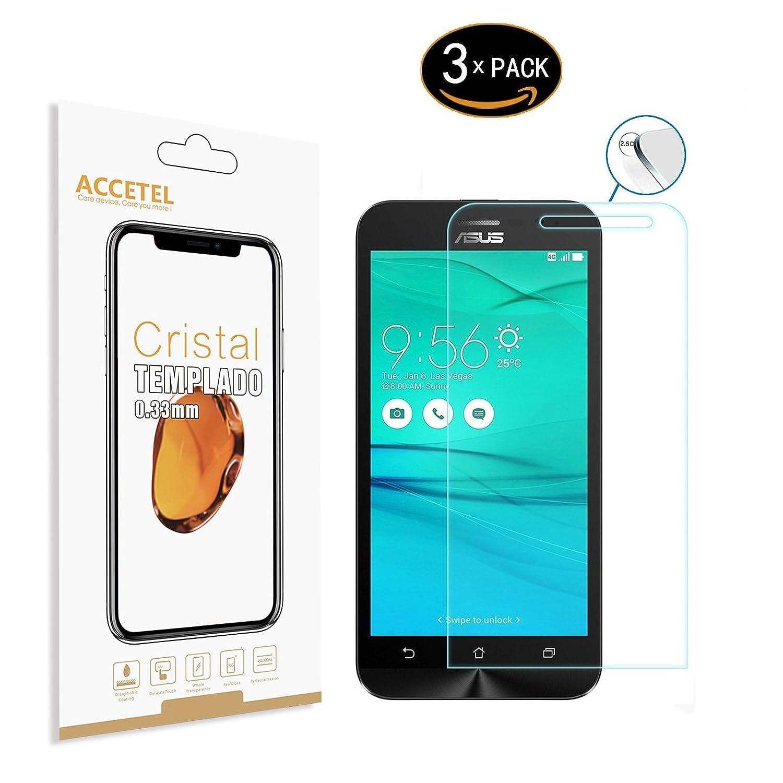 Accetel Protector de Pantalla Compatible con ASUS ZenFone Go ...