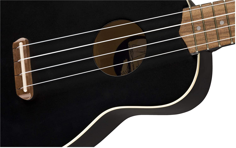 Black Fender Venice Soprano Ukulele