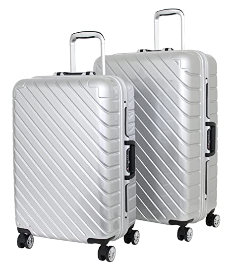 Juego de 2 maletas medianas y grandes infinito Alistair - ABS ultra ligero - 4 ruedas
