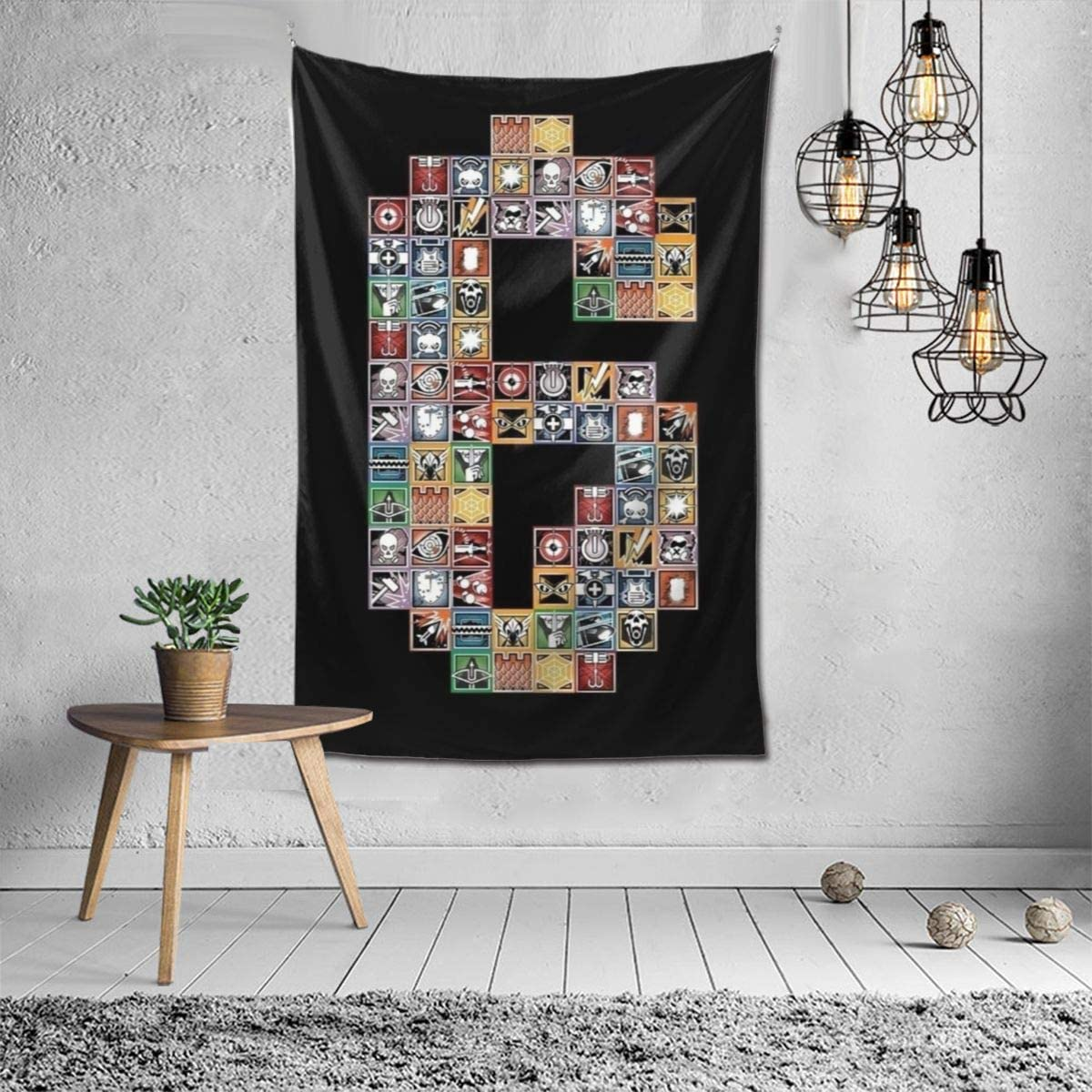 Rainbow Six Siege Personalized Custom Tapestry Art Wall Hanging Home Decor
