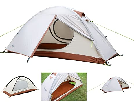 Luxe Tempo Single 1 Person Tent 4 Season Freestanding for C&ing 3.3LB with Footprint High  sc 1 st  Amazon.com & Amazon.com : Luxe Tempo Single 1 Person Tent 4 Season Freestanding ...