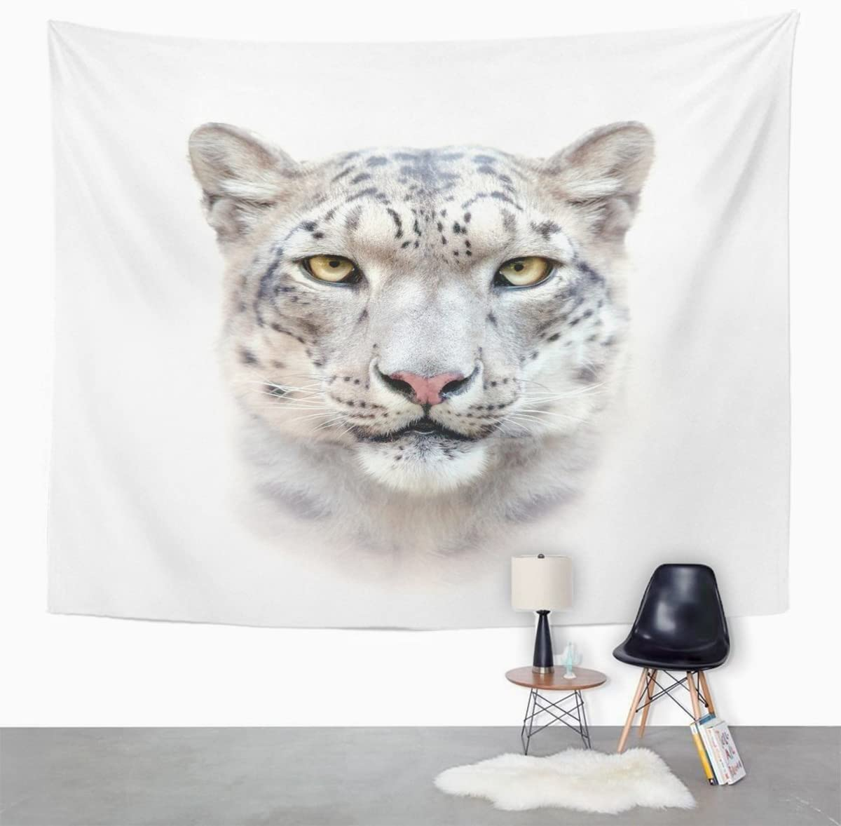 Snow Leopard Wall Hanging Tapestry Psychedelic Bedroom Home Decoration