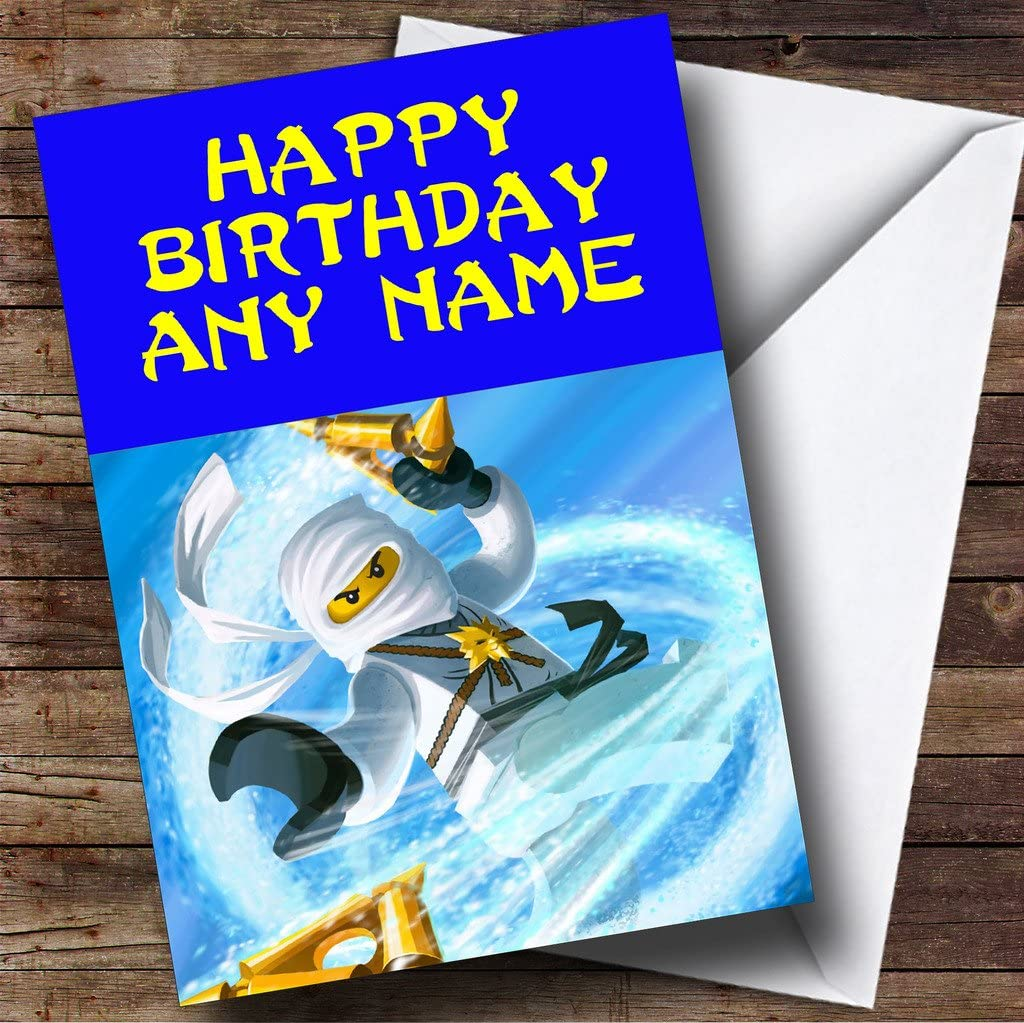 Personalised Ninjago Zane Birthday Card