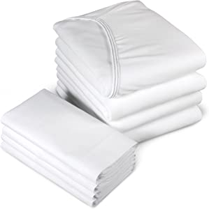 Medline Bed Premium Soft Span Jersey Knit Fitted Contour Hospital Sheet (1)