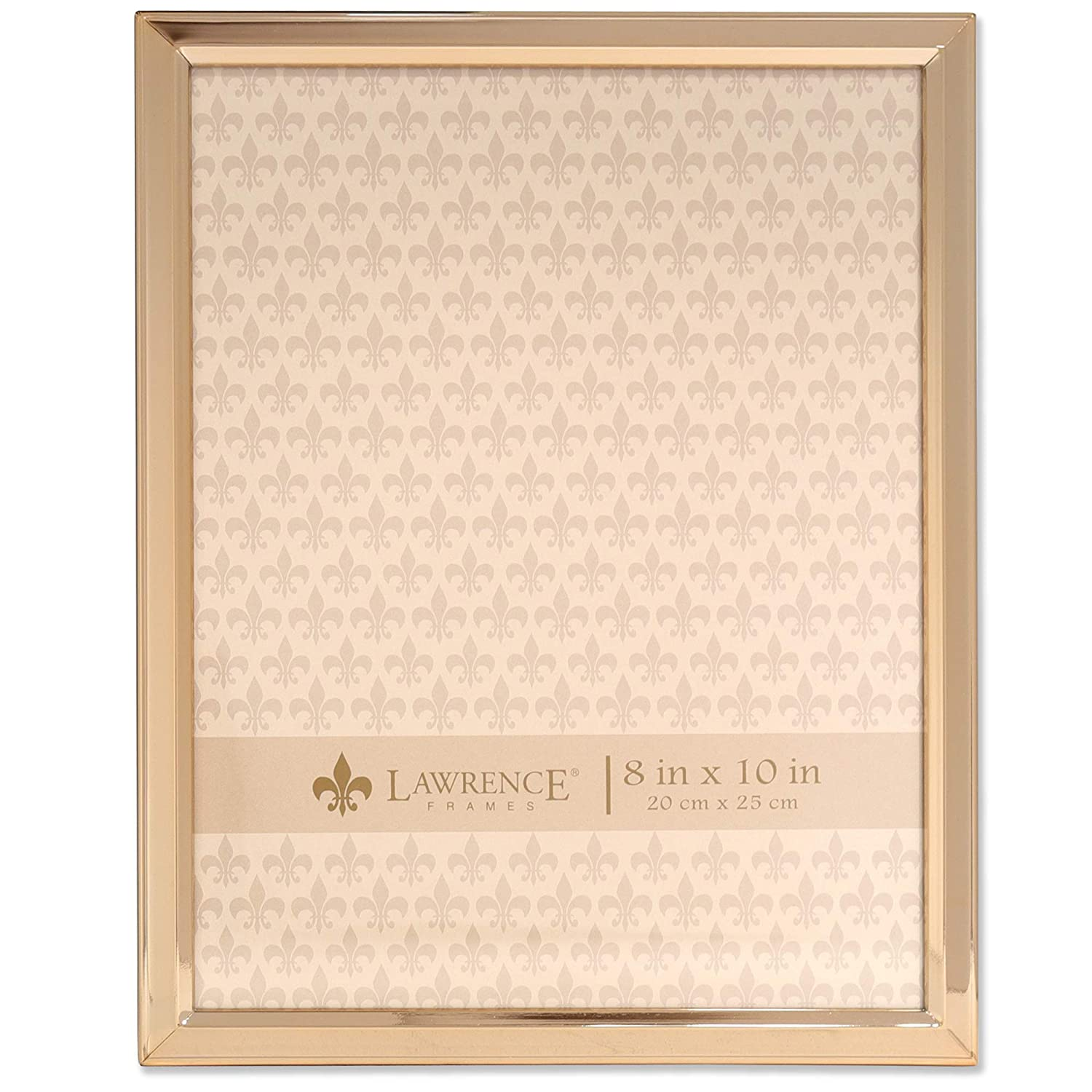 Amazoncom Lawrence Frames 8x10 Gold Metal Classic Bevel Picture