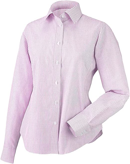Chestnut Hill Ladies Executive Performance Broadcloth Shirt Fresh Pink Stripe CH600W M