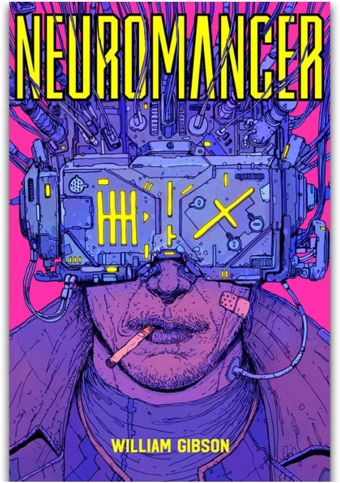 Amazon.com: yhyxll William Gibson Fashion Decor Film Neuromancer Movie Wall  Art Painting Print On Canvas Poster Home Decoration-50x70cm No Frame:  Posters & Prints