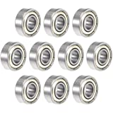 uxcell 696ZZ Deep Groove Ball Bearing 6x15x5mm Double Shielded ABEC-3 Bearings 10-Pack