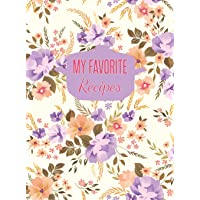 My Favorite Recipes: Large Blank Recipe Journal to Write in (Hardcover)