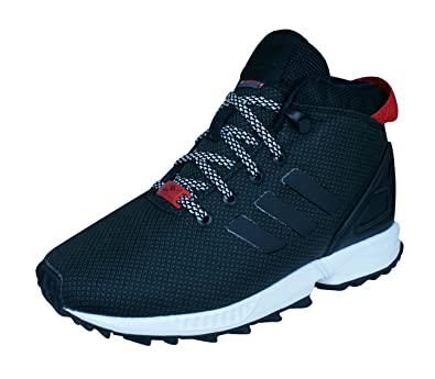 ed6060f55b64e adidas Boys Originals Trainers ZX Flux 5 8 TR Kids Shoes-Black-10.5K ...