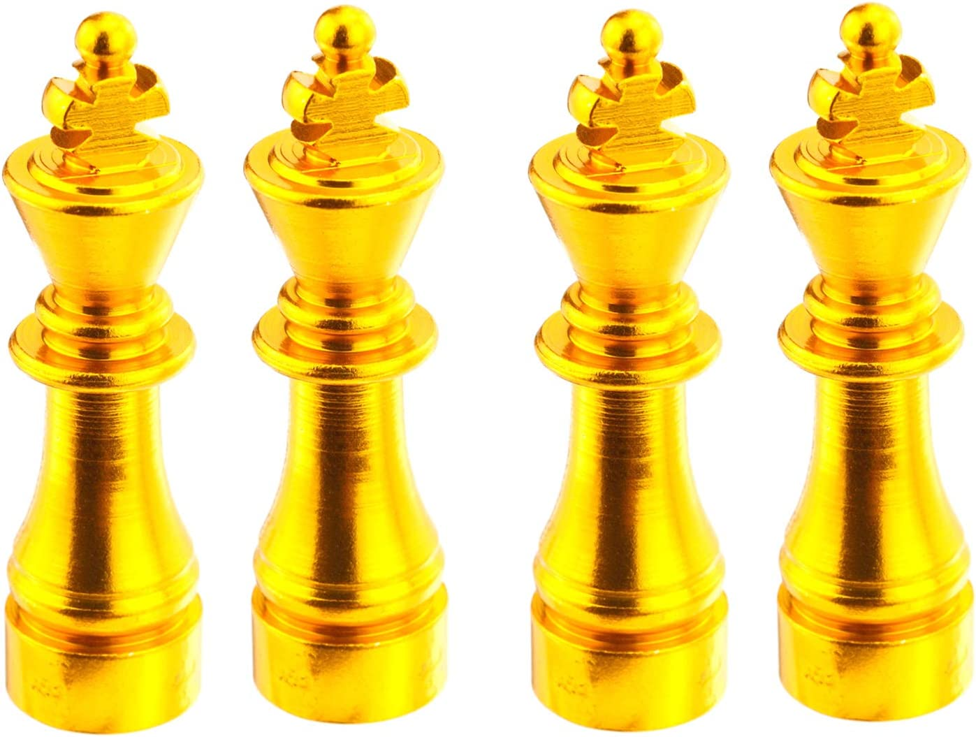 Lunsom Chess Valve Stem Caps Car Wheels Valves Hole Cover Accessories Fit Most Vehicle Motorcycle 4PCs Yellow