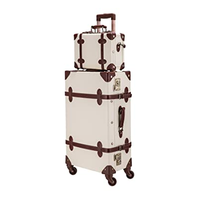 """CO-Z Premium Vintage Luggage Sets 24"""" Trolley Suitcase and 12"""" Hand Bag Set"""