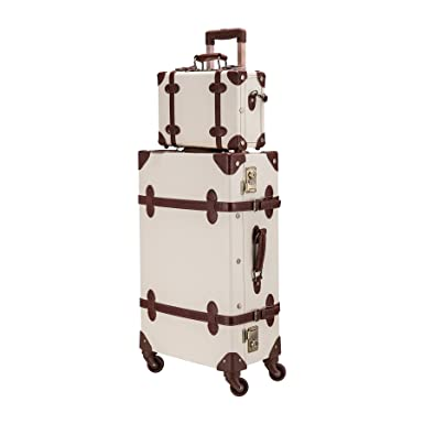 """8cccbcf6e CO-Z Premium Vintage Luggage Sets 24"""" Trolley Suitcase and 12""""  Hand Bag"""