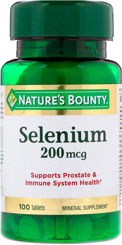 Nature's Bounty Selenium, 200 mcg, 100 Tablets