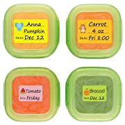 Baby Date Labels, Removable Write-On Labels for OXO TOT Food Storage Containers & Baby Bottles, Great for Daycare, Pack of 90
