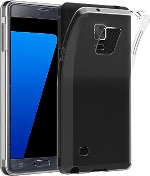 JETech Funda para Samsung Galaxy Note 4, Anti-Choques y Anti-Arañazos, Transparente: Amazon.es: Electrónica