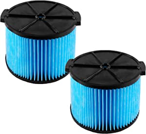VF3500 Replacement Filter for Ridgid 3-Layer Wet/Dry 3-4.5 Gallon Portable Vacuum Compatible with WD4050 WD4070 WD4522 Filters(2 Pack)