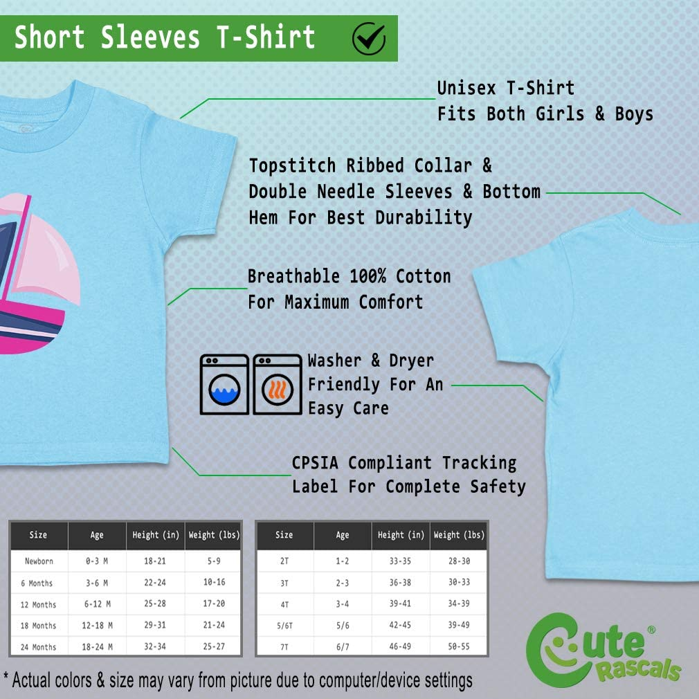Custom Baby /& Toddler T-Shirt Pink Purple Boat Cotton Boy Girl Clothes
