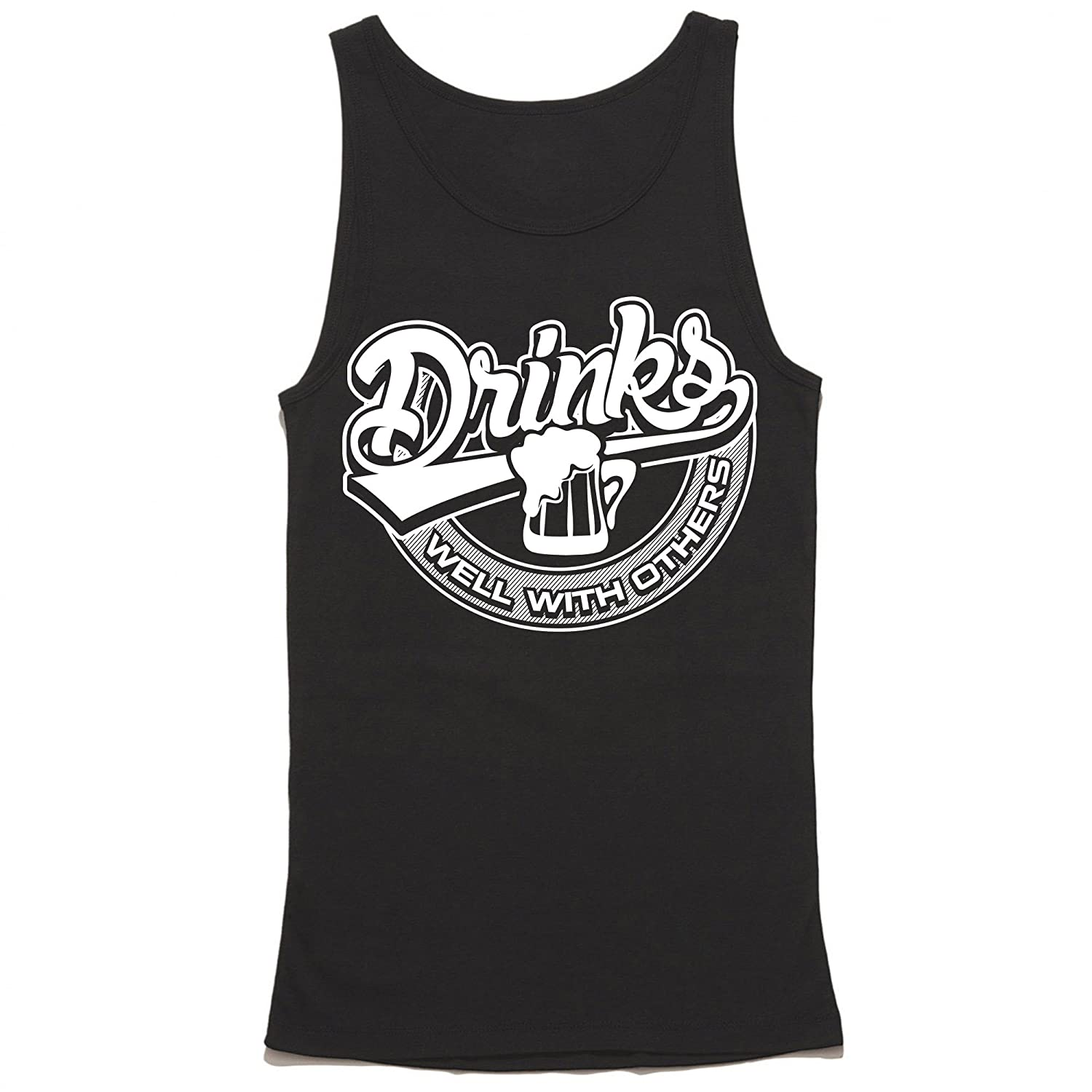 f85b672ff6d51 Amazon.com  Drinks Well with Others Tank Top - Funny Drinking Shirt - Party Tank  Top  Clothing
