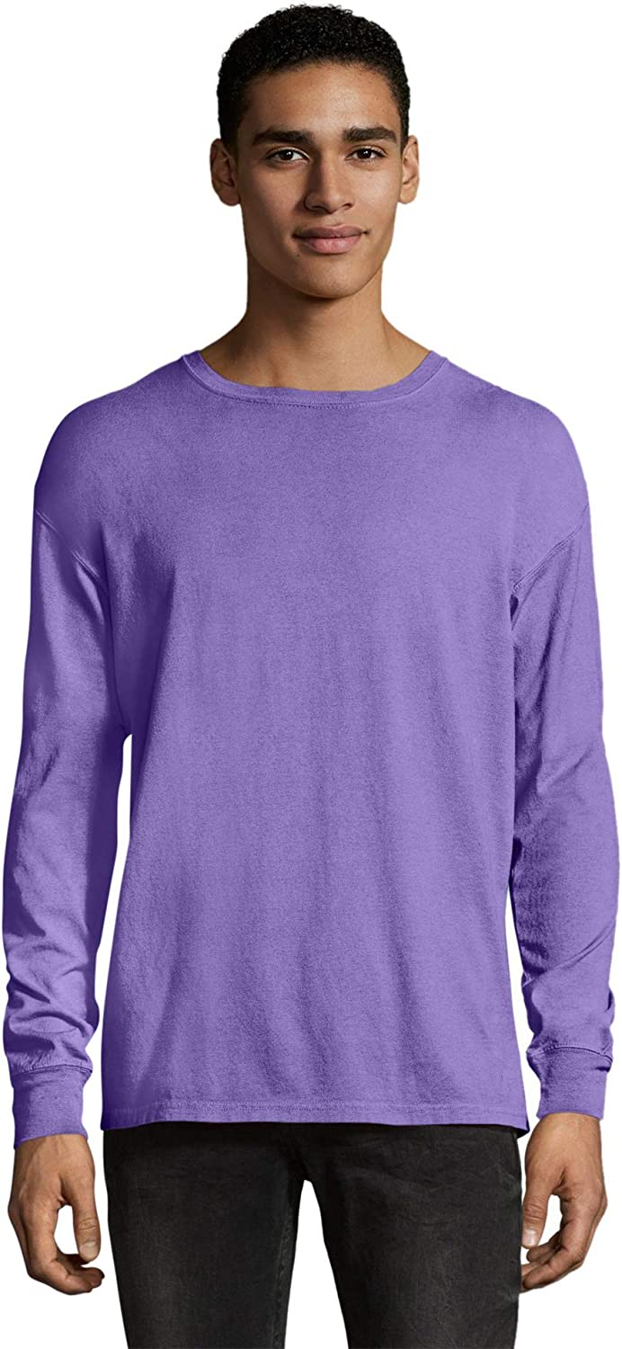 Hanes ComfortWash Garment Dyed Long Sleeve T-Shirt