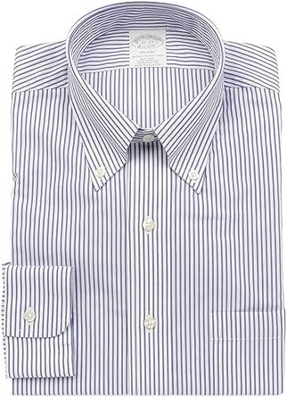 BROOKS BROTHERS Luxury Fashion Hombre 48180BLU Azul Camisa ...