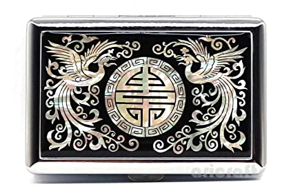 6ea745fc85a Amazon.com   Ari Crafts Mother of Pearl Metal Cigarette Case