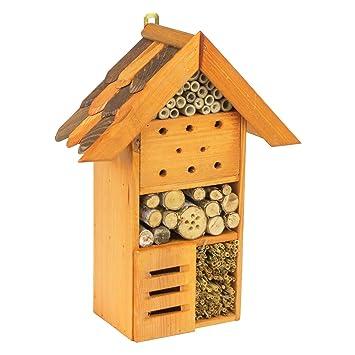 Insectos hotel madera natural insectos Casa nistkästen Caja Nido marrón Hotel Abejas