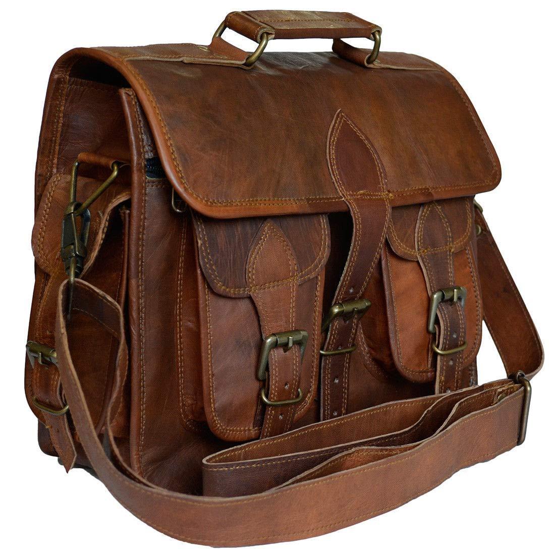SALE Shakun Leather Messenger bag 15-inch handmade vintage bag Laptop bag shoulder bag FREE shipping