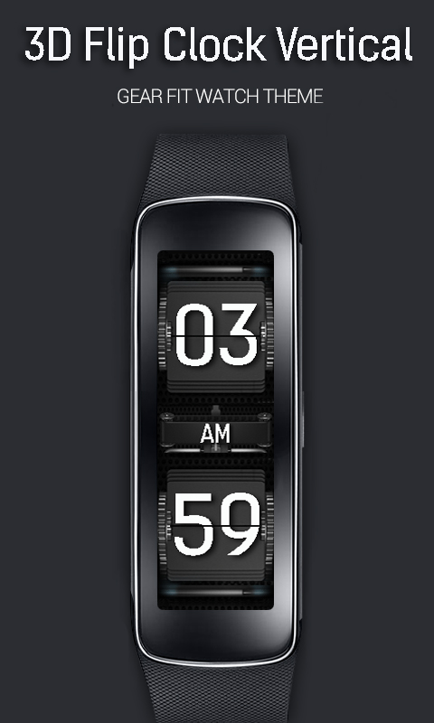 amazon com 3d flip clock vertical for gear fit appstore for android