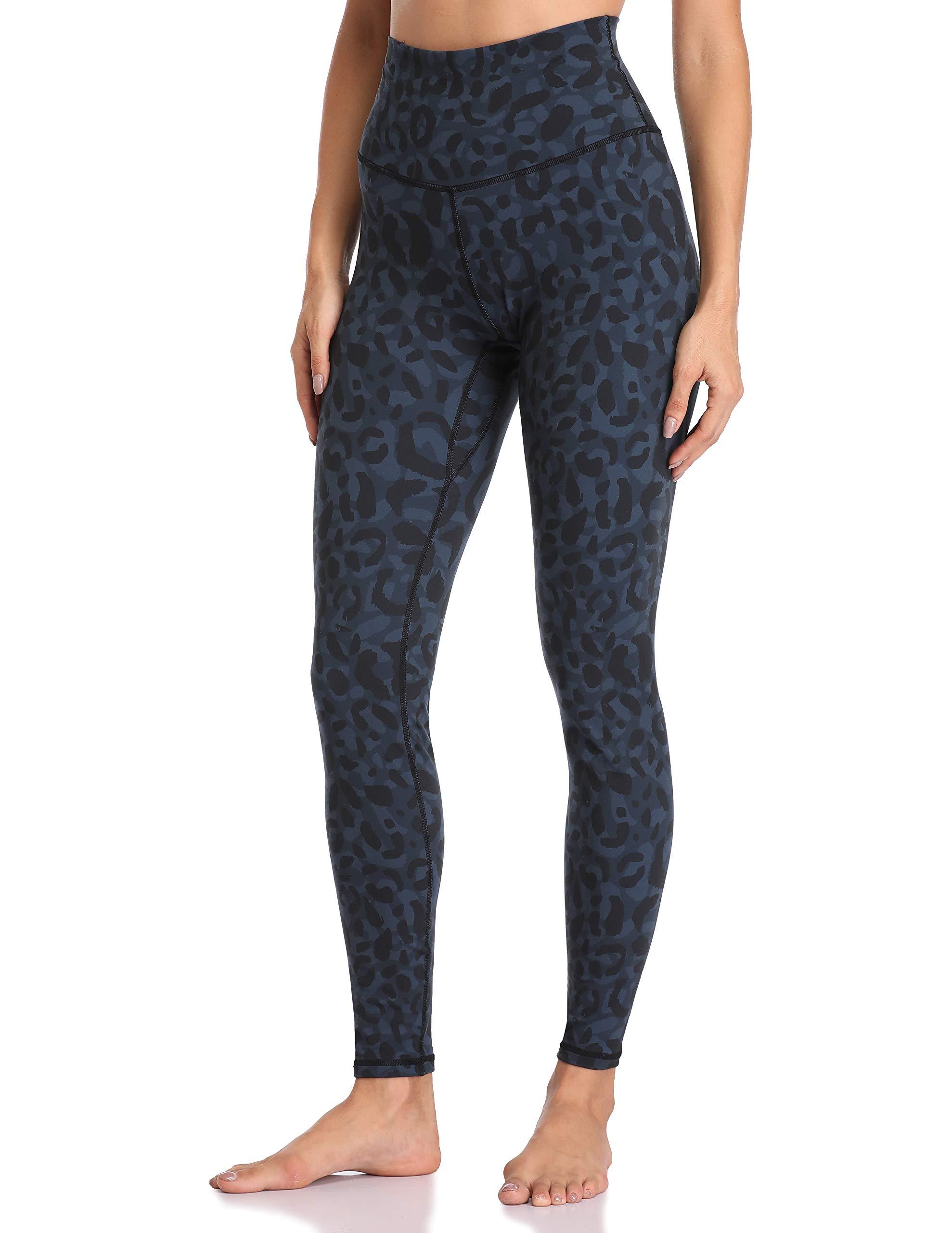 Colorfulkoala Women's High Waisted Pattern Leggings Full-Length Yoga Pants (S, Cyan Leopard) by Colorfulkoala