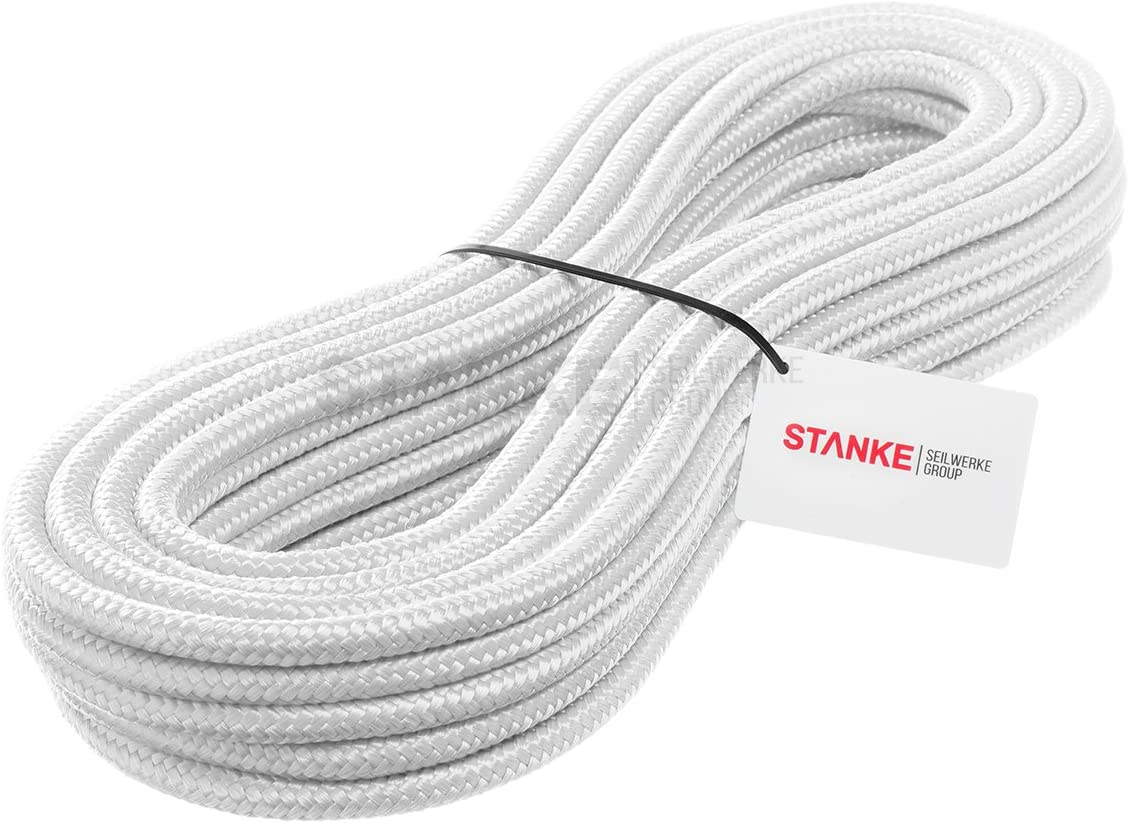 Seilwerk STANKE 15 m 5 mm cuerda de polipropileno trenzada pp blanca amarra cuerda trenzada jarcias cuerdas de auxiliar