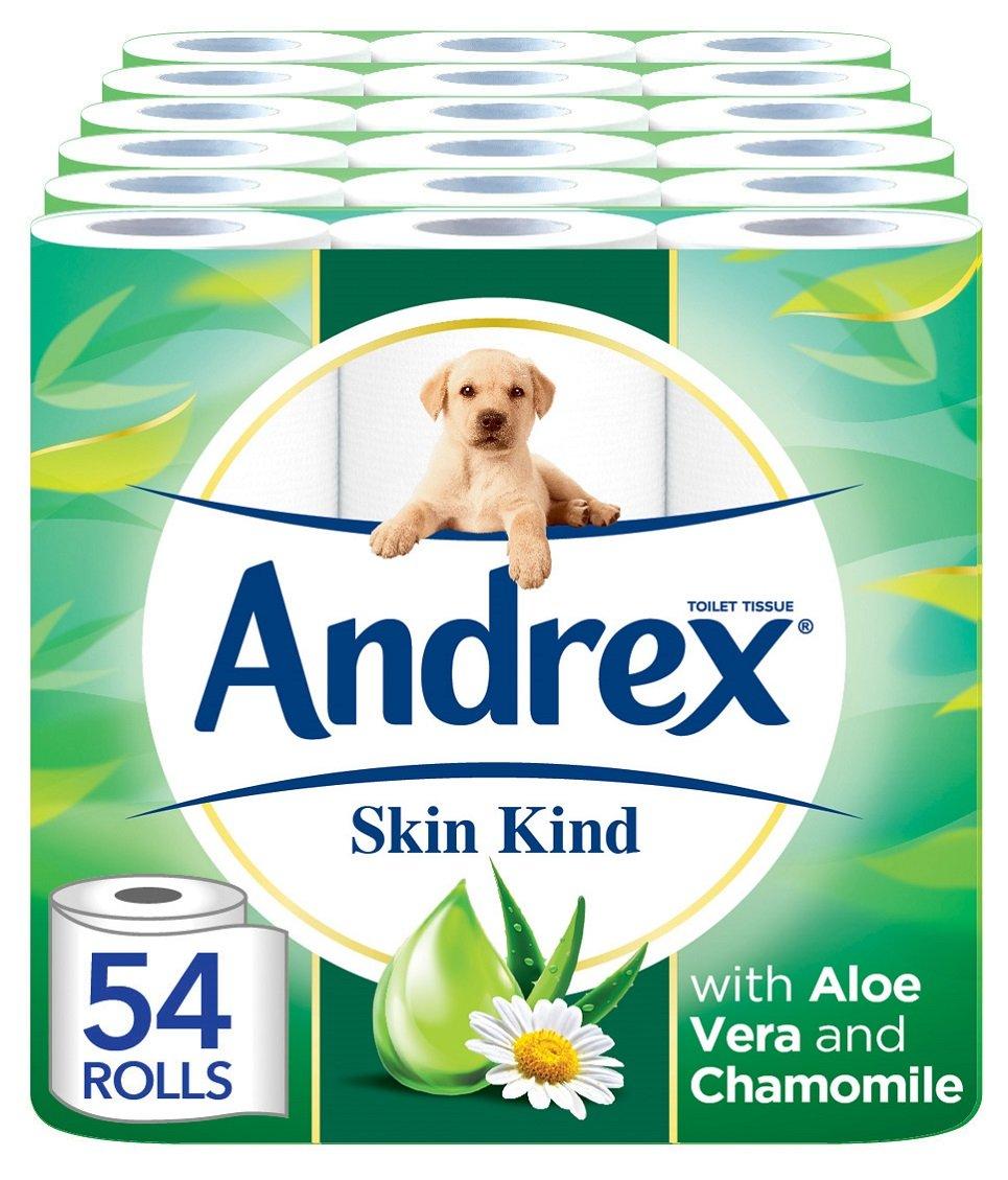 Andrex Skin Kind Toilet Roll Tissue Paper with Aloe Vera - 54 Rolls Kimberly-Clark 4458060