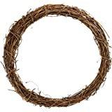 Supla 2 pcs Grapevine Wreath Base 12 inch Grapevine Wreath Base Rustic Wreath Craft Base Wreath Form DIY Everyday Wreath (12 inch)