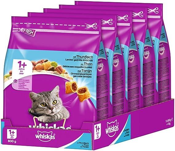 whiskas - Comida para Gato, alimento seco para Gatos Adultos: Amazon.es: Productos para mascotas