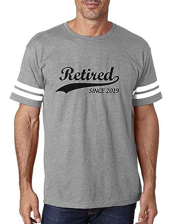 Amazon.com  Tstars - Retired Since 2019 - Retirement Gift Idea Football  Jersey T-Shirt  Clothing 962cfd07b